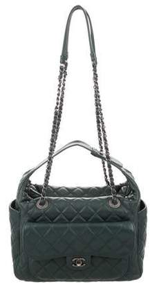 755239b40e93 Chanel Green Quilted Leather Handbags - ShopStyle