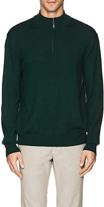 Piattelli MEN'S MERINO WOOL QUARTER-ZIP SWEATER