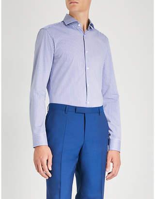HUGO Striped slim-fit cotton shirt