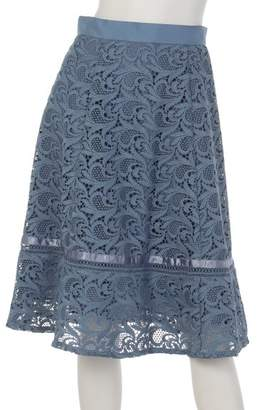 Apuweiser-riche (アプワイザー リッシェ) - アプワイザーリッシェ 裾ラインレースフレアスカート