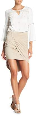 Kensie Faux Suede Wrapped Skirt