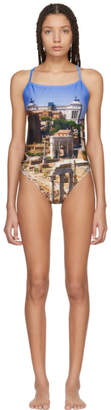 Bless Multicolor Print Crossback Swimsuit