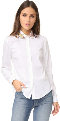 RED Valentino Embroidered Button Down $495 thestylecure.com