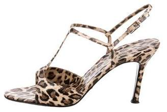Dolce & Gabbana Animal Print Ankle Strap Sandals