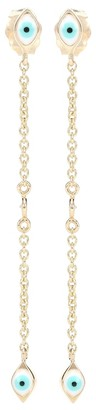 Sydney Evan Mini Evil Eye 14kt gold earrings with diamonds