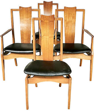 One Kings Lane Vintage 1960s Asian-Style Dining Room Chairs,Set of 4 - 2-b-Modern