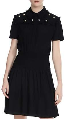Maje Ravanna Embroidered Shirt Dress