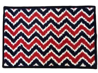 Bacati Mix N Match Ikat Zigzag Nylon High Pile Plush Rug
