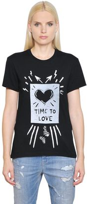 Time To Love Cotton Jersey T-Shirt $68 thestylecure.com