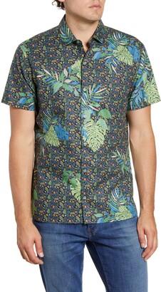 Tori Richard Microtrop Classic Fit Floral Short Sleeve Button-Up Shirt