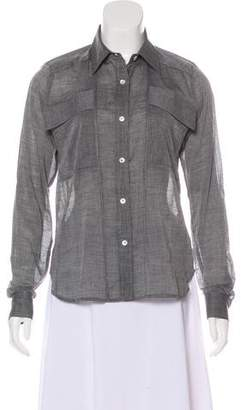 Billy Reid Button-Up High-Low Top