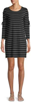 BB Dakota Striped Mini Shift Dress