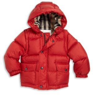 Burberry Baby's & Toddler's Boy's Barnie Down Puffer Jacket $365 thestylecure.com