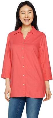 Belle By Kim Gravel Belle by Kim Gravel Stretchabelle 3/4 Sleeve Linen Shirt