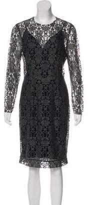 L'Agence Lace Knee-Length Dress