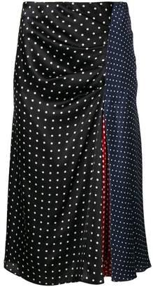 Sportmax polka dot patchwork skirt