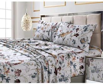 Amalfi by Rangoni Marwah Corporation/tribeca Living Printed 300 Tc Cotton Sateen Extra Deep Pocket Queen Sheet Set Bedding