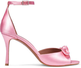 Tabitha Simmons Mimi Bow-embellished Satin Sandals - Bubblegum