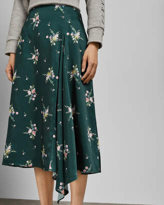 Ted Baker ANABELL Flourish asymmetric skirt
