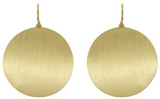 Irene Neuwirth Large Flat Circle Earrings - Yellow Gold