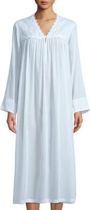 Celestine Fleur Long-Sleeve V-Neck Nightgown