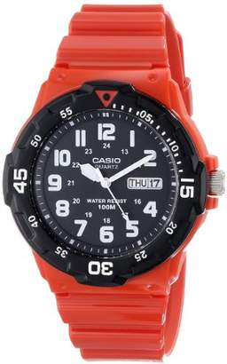 Casio Men's MRW-200HC-4BVCF Stainless Steel Watch with Red Resin Band