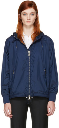 Moncler Navy Orchis Jacket $885 thestylecure.com
