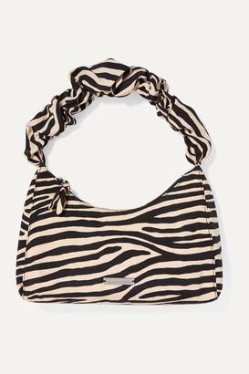 Loeffler Randall Aurora Zebra-print Cotton-blend Moire Tote