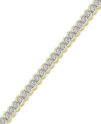 Victoria Townsend Diamond Scalloped Bracelet (1 ct. t.w.) in 18k Gold-Plated or Sterling Silver-Plated Brass $250 thestylecure.com
