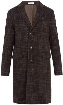 Boglioli Single-breasted checked wool coat