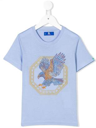 Stefano Ricci Kids eagle embroidered T-shirt