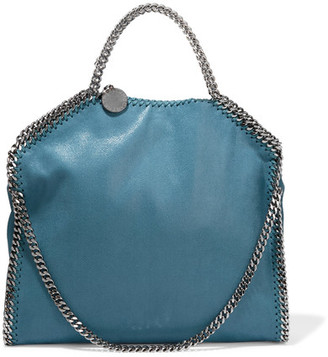 Stella McCartney - The Falabella Medium Faux Brushed-leather Shoulder Bag - Teal $1,195 thestylecure.com