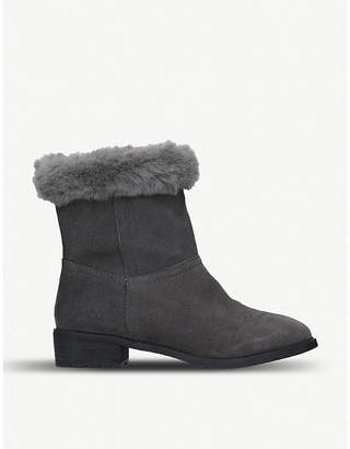 Kurt Geiger Tasha faux-fur lined suede boots