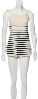 Solid & Striped Knit Striped Romper w/ Tags