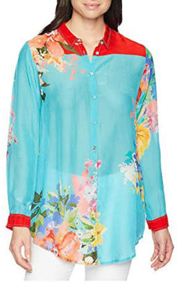 Johnny Was Tropical Print Blouse