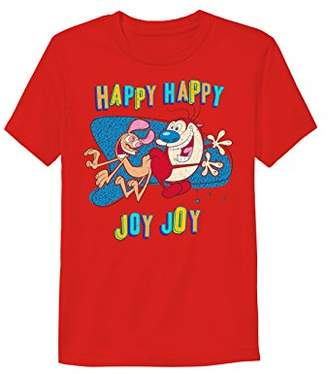 Nickelodeon Men's Ren and Stimpy Short Sleeve Graphic T-Shirt