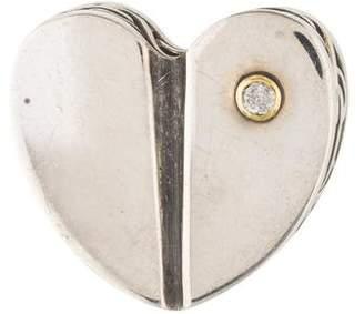 Kieselstein-Cord Diamond Heart Brooch
