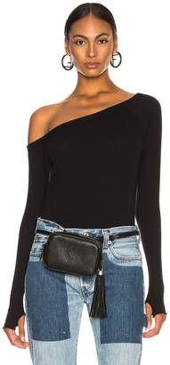 Enza Costa Cashmere Off Shoulder Long Sleeve in Black | FWRD