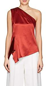 Narciso Rodriguez WOMEN'S SILK SATIN ONE-SHOULDER BLOUSE - RED SIZE 40 IT