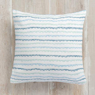 Handdrawn Scallop Square Pillow