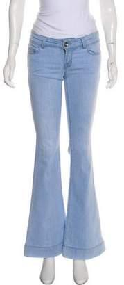 J Brand Low-Rise Flare-Leg Jeans