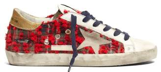 Golden Goose Superstar Checked Low Top Trainers - Womens - Red Multi
