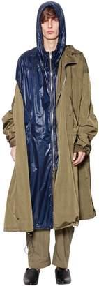 Juun.J Hooded Nylon Layered Parka Coat