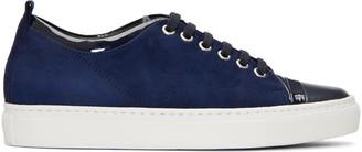 Lanvin Navy Suede Sneakers $650 thestylecure.com