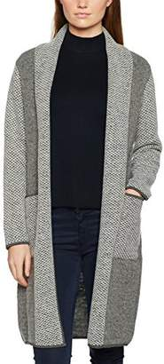 Jacques Vert Women's Knit Heavy Weight Cardigan, (Grey), (Size:Medium)