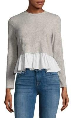 ENGLISH FACTORY Heather Long-Sleeve Top