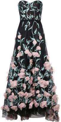 Marchesa long floral dress
