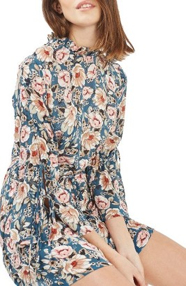 Women's Topshop Peony Print Tea Dress $95 thestylecure.com