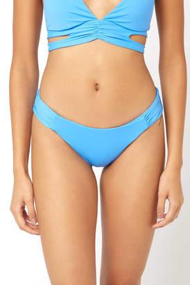 Becca Skylight Shirred Tab Hipster Bikini Bottom