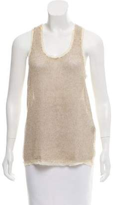 Elizabeth and James Sleeveless Linen Top